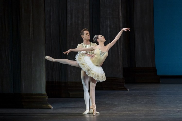 Tiler Peck and Andrew Veyette performing George Balanchine's Theme and Variations. Credit Paul Kolnik
