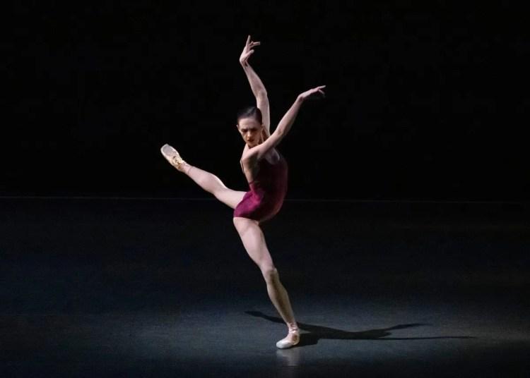 Lauren Lovette in Alexei Ratmansky's Voices. Photo credit Erin Baiano