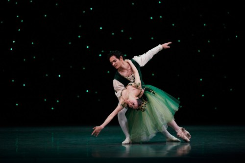 Misa Kuranaga and Angelo Greco in Balanchine's Emeralds, Choreography by George Balanchine © The Balanchine Trust; Photo © Erik Tomasson