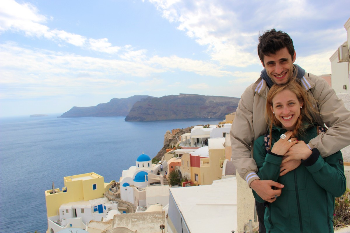 On holiday in Santorini with Nicola Del Freo