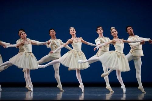 San Francisco Ballet in Balanchine's Diamonds, Choreography by George Balanchine © The Balanchine Trust; Photo © Erik Tomasson