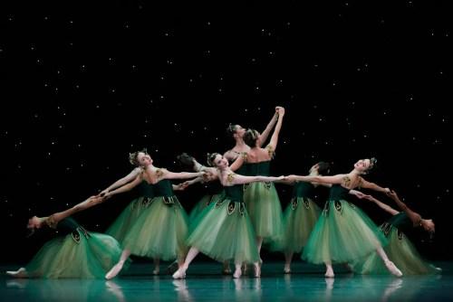 San Francisco Ballet in Balanchine's Emeralds, Choreography by George Balanchine © The Balanchine Trust; Photo © Erik Tomasson