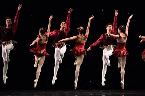 San Francisco Ballet in Balanchine's Rubies, Choreography by George Balanchine © The Balanchine Trust; Photo © Erik Tomasson