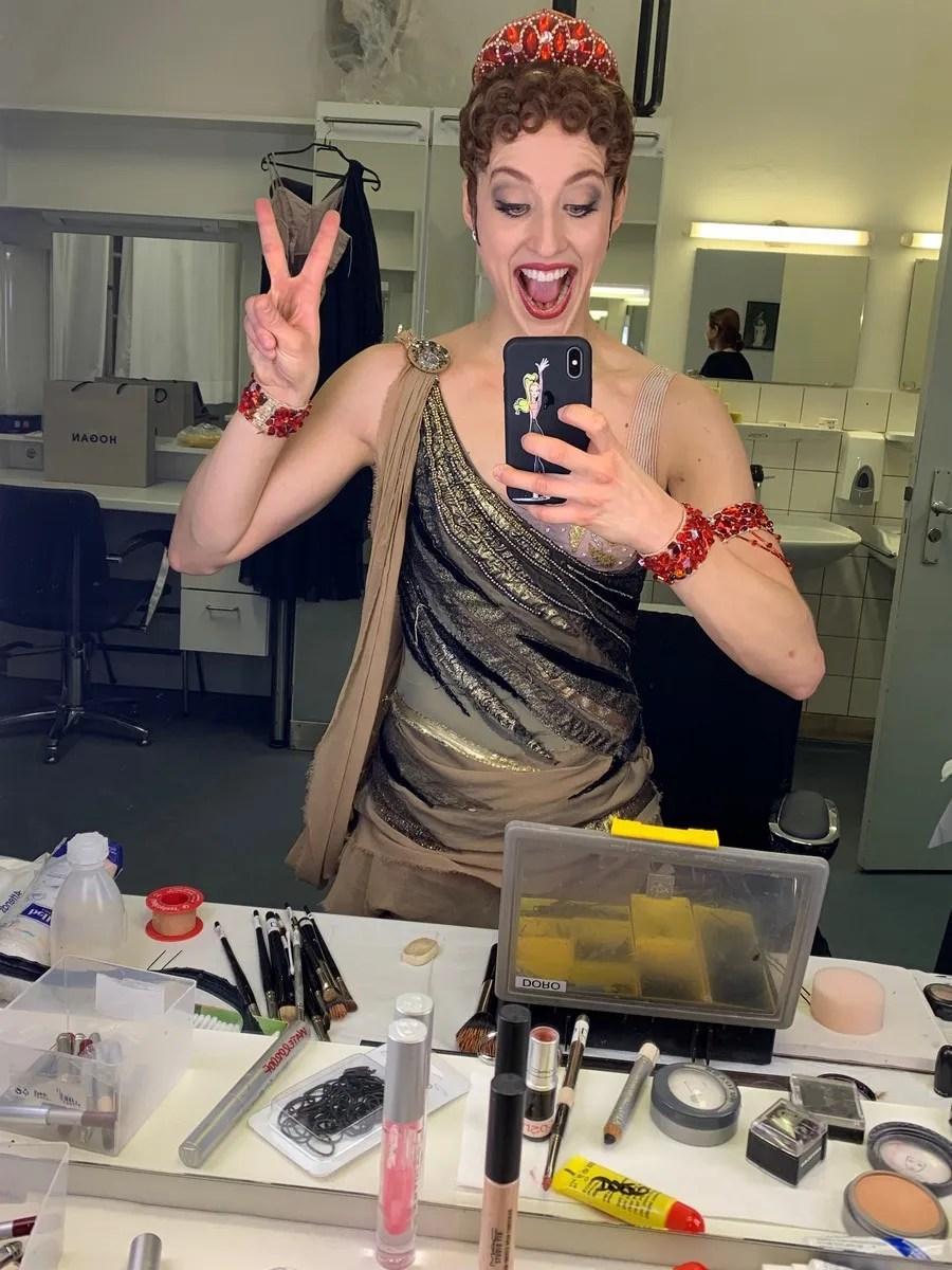 Virna Toppi as Aegina in Spartacus, Munich