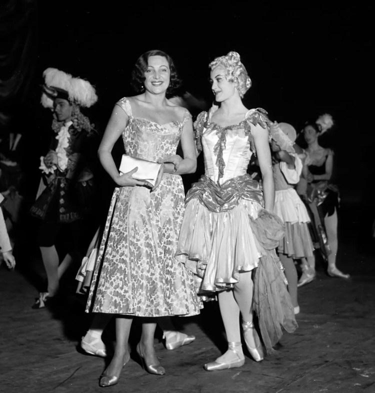 1956 Luciana Novaro with Carla Fracci in Sebastian, photo by Erio Piccagliani © Teatro alla Scala