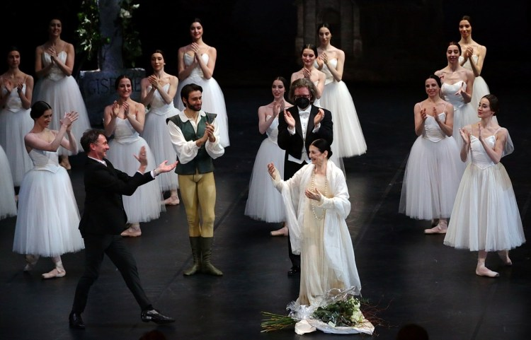 After the filming of Giselle in January 2021, photo by Brescia e Amisano, Teatro alla Scala