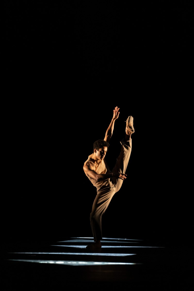 Marcelino Sambé in the new work by Kyle Abraham, The Royal Ballet ©2021 ROH. Photograph by Bill Cooper