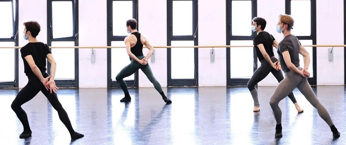 Masterclass - Claudio Coviello, Gabriele Corrado, Marco Agostino, Timofej Andrijashenko - photo by Brescia e Amisano ©Teatro alla Scala
