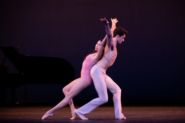 Beatriz Stix-Brunell and Reece Clarke in After The Rain, The Royal Ballet ©2021 ROH. Photograph by Alice Pennefather