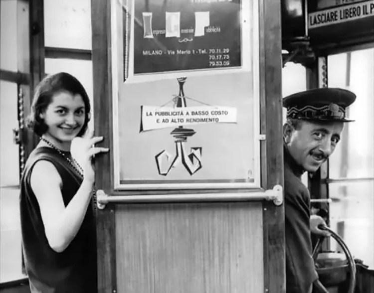 Carla Fracci on tram n°1 with her father, Luigi