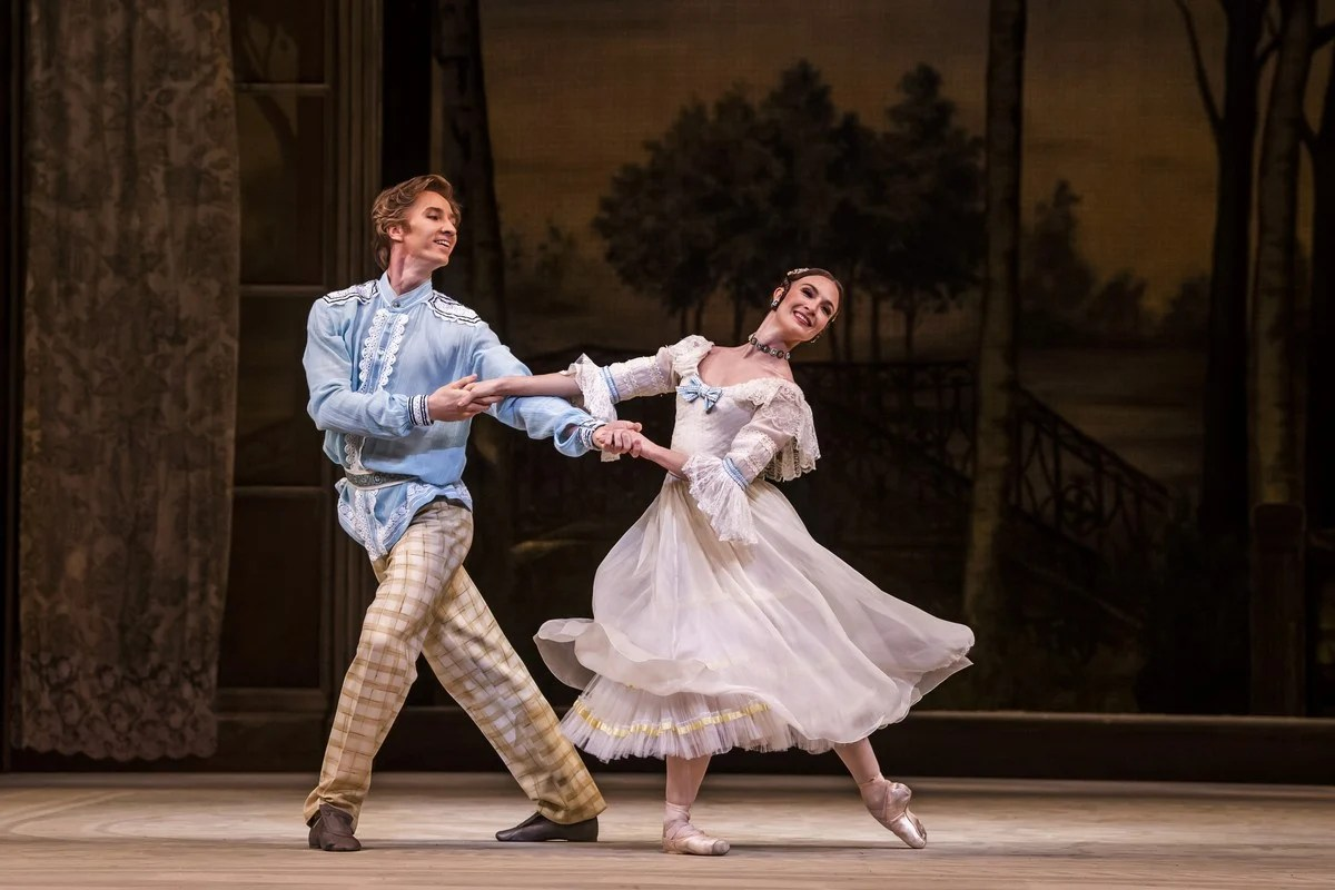Vadim Muntagirov as Beliaev and Lauren Cuthbertson as Natalia Petrovna in A Month in the Country, The Royal Ballet © 2019 ROH. Photograph by Tristram Kenton