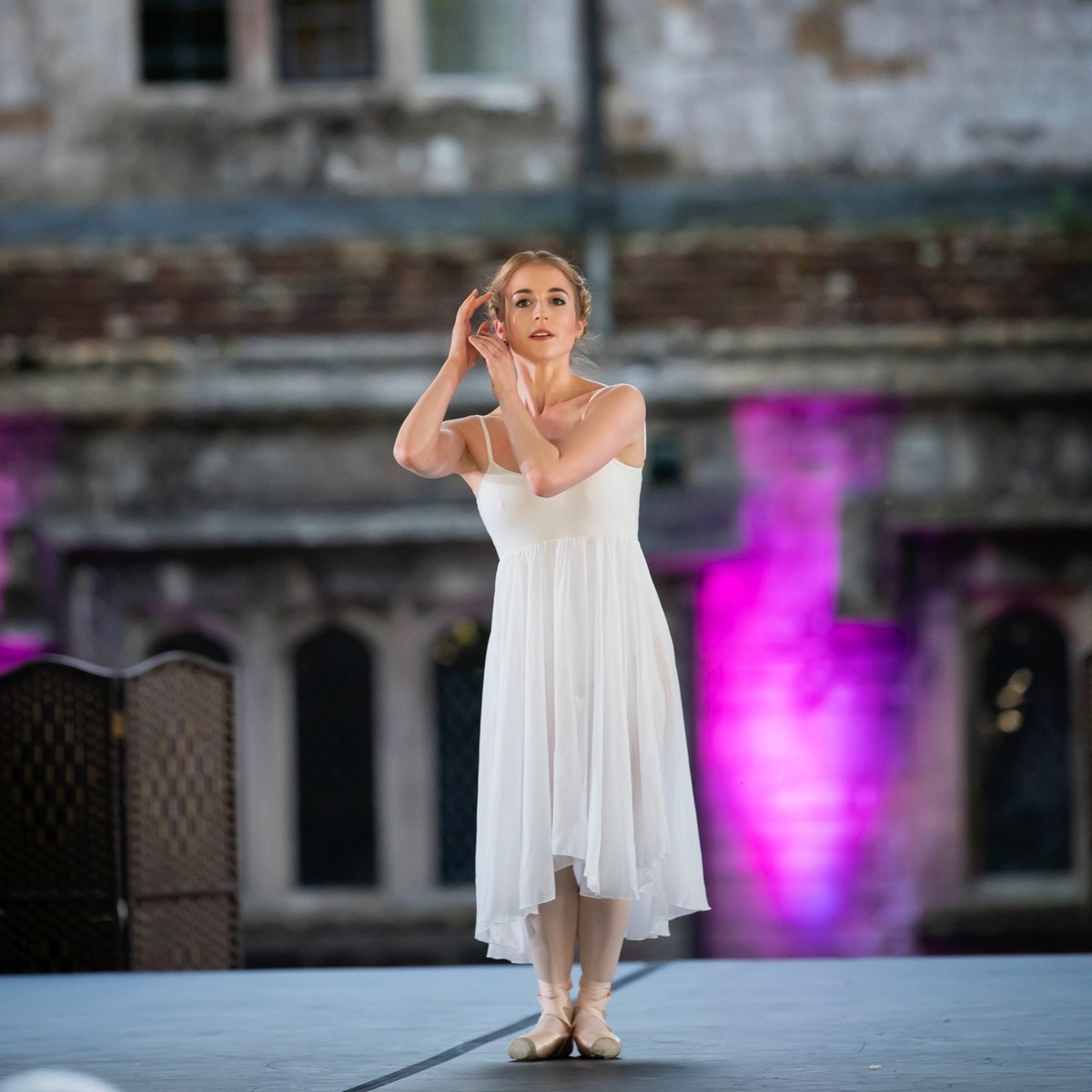 Meaghan Grace Hinkis in the solo from MacMillan's Requiem, photo by Bill Cooper