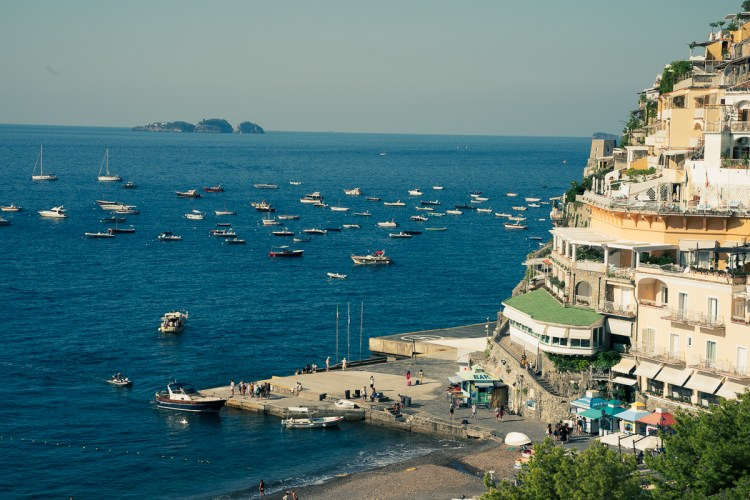 Li Galli islands in front of Positano bay