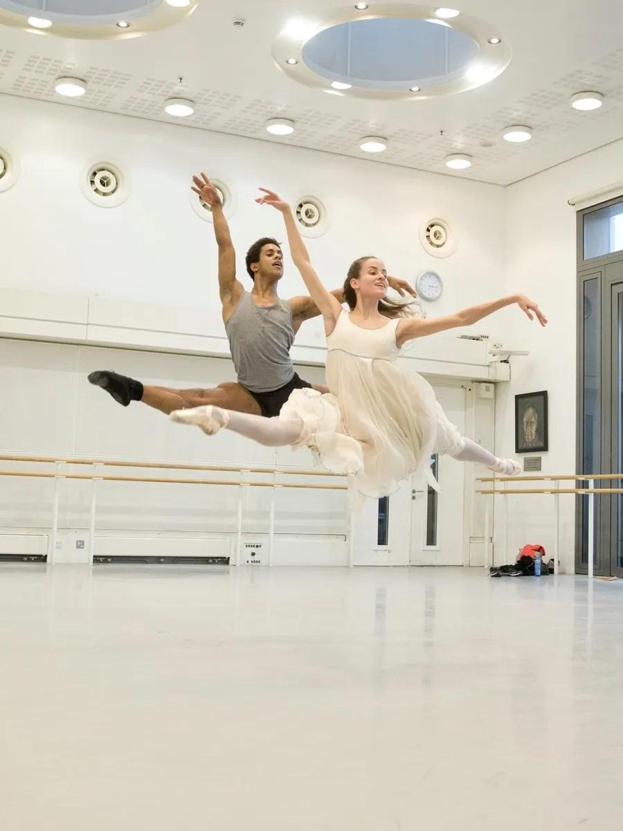 Marcelino Sambé and Leticia Stock in rehearsal for The Nutcracker ©2015 ROH. Photograph by Andrej Uspenski.