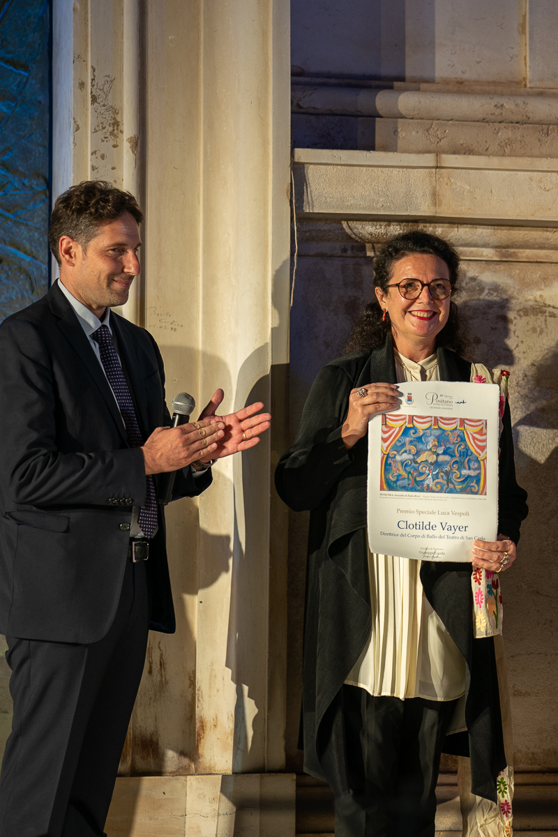 The mayor, Giuseppe Guida, with Clotilde Vayer