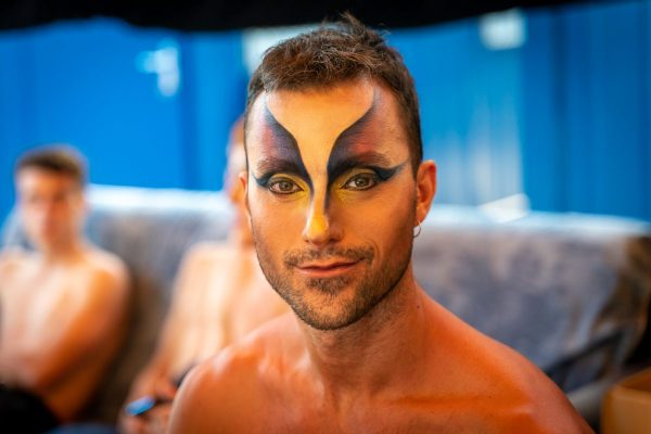 Giampiero Giarri preparing for The Creatures of Prometheus at the Nervi Festival 2020
