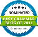 The Best Grammar Blog of 2011 nomiee