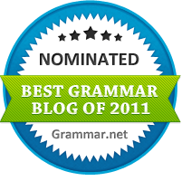 The Best Grammar Blog of 2011 nominee
