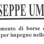 """Presentazione istanze borse di studio """" Fondazione Umana Giandinoto """""""