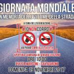 #IONONCORRO si prepara a celebrare la giornata mondiale in memoria delle vittime della strada