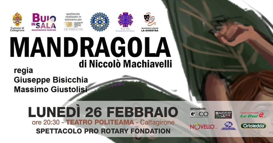 """A teatro con """" Mandragola """" di Niccolò Macchiavelli"""