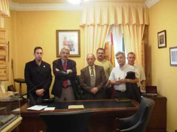 Antonio Jara y Pasqual Maragall en visita oficial a Jun