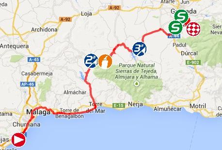 Trazado| vuelta |ciclista|Granada
