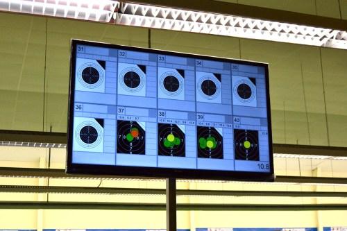 Mundial tiro Monitor puntos