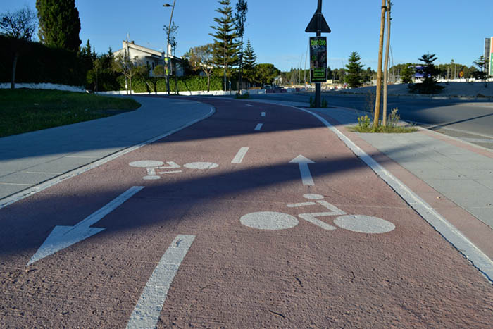 red ciclista carril bici