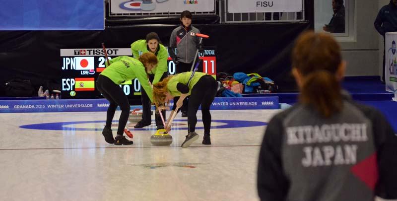 Universiada 2015-02-09 - Curling Femenino - España - Japón