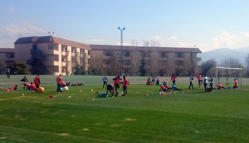 2015-03-19 Granada CF entrenamiento