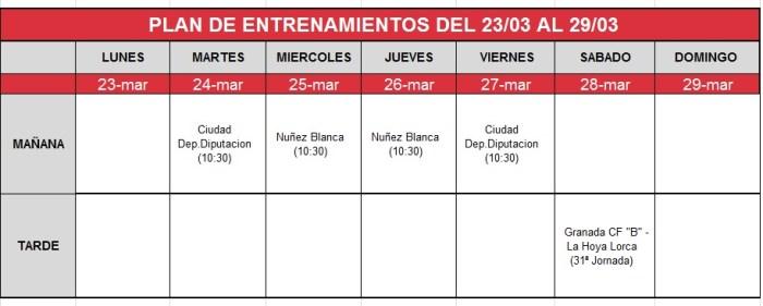 plan-entrenamientos-23-29 marzo Granada B