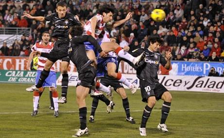 GRANADA, 22/01/11 liga Adelante entre los equipos del Granada cf-Recreativo de Huelva disputado en el Campo de los Carmenes de Granada. diego mainz
