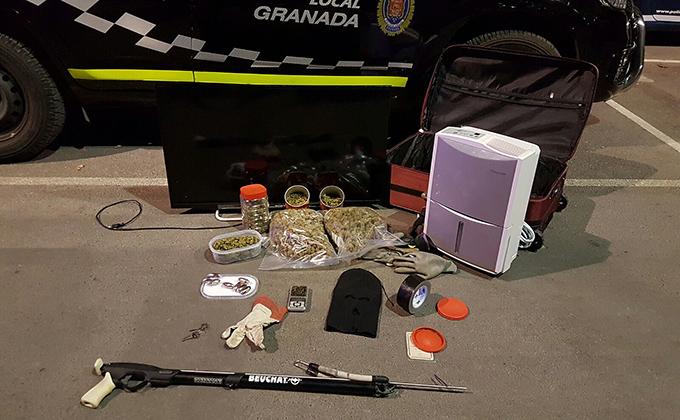 incautacion robo violencia policia local marihuana hachis 680