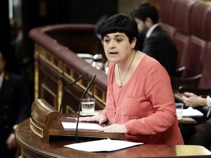 a portavoz parlamentaria de EH Bildu, Marian Beitialarrangoitia