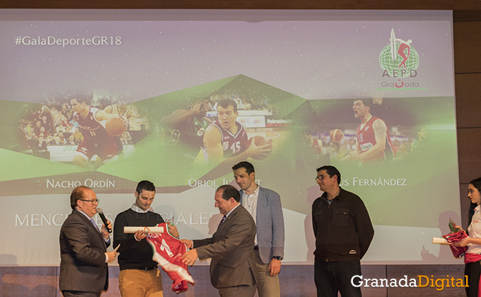 nacho ordin - oriol junyent - jesus fernandez - gala deporte - caja rural - premio 2