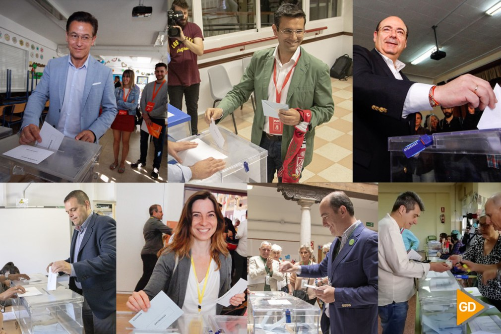 COLLAGE CANDIDATOS VOTACIONES MUNICIPALES GRANADA 2019