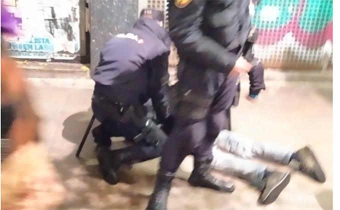detenido manifestacion 25N