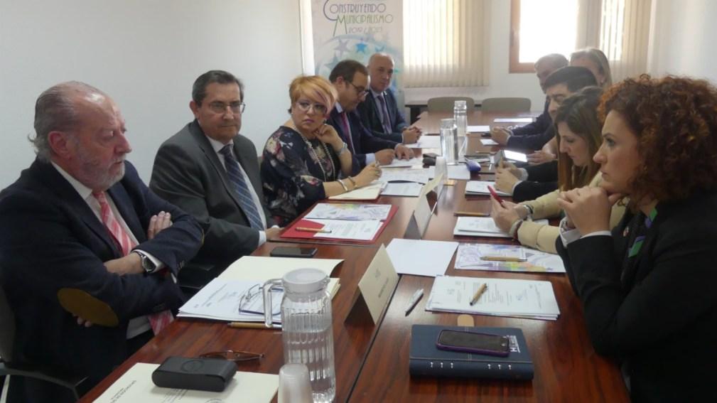 Granada.- FAMP.- Entrena asiste a la constitución de la Subcomisión de Presidencias de Diputaciones de la FAMP