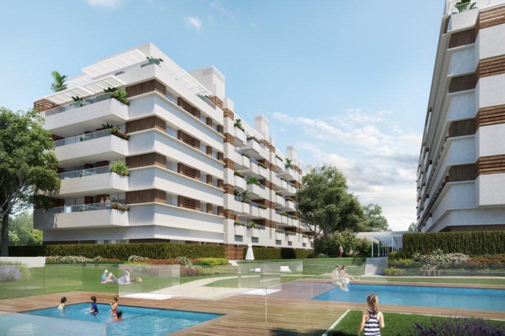 Así será la promoción de viviendas Taracea que AEDAS Homes impulsa en Granada.