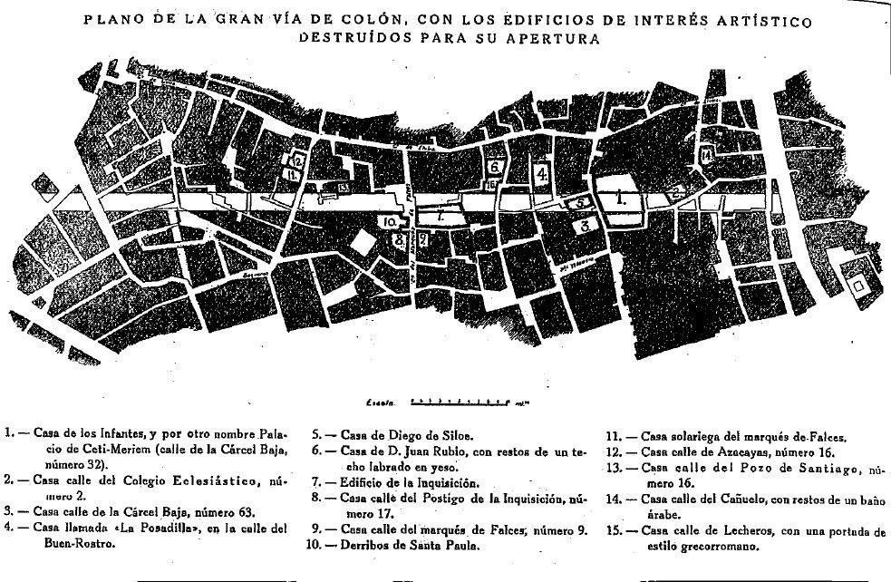 Plano de construcción de la Gran Vía.