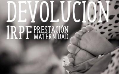 Guía para reclamar el IRPF de la prestación por maternidad