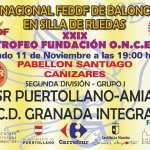 CD Granada Integra de baloncesto en silla de ruedas viaja a Puertollano