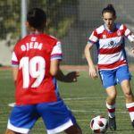 Un final de partido feliz del Granada CF Femenino ante Sporting Huelva