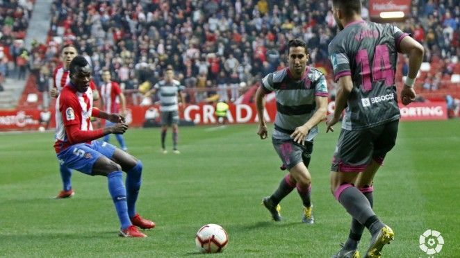 El minuto inicial lastra a un Granada CF dominador en tierras gijonesas