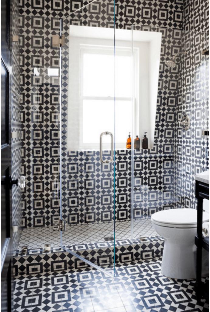 using cement tiles for bathroom floors