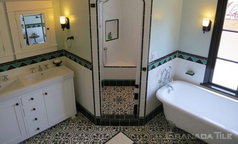 3 Unique DIY Ideas for Small Bathrooms with Cement Tiles
