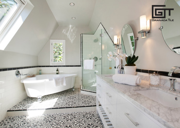 pairing floor tiles with wall tiles