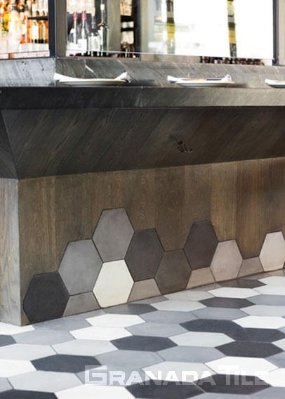 cement restaurant floor tile