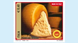 Il Parmigiano-Reggiano in un nuovo francobollo di Poste Italiane